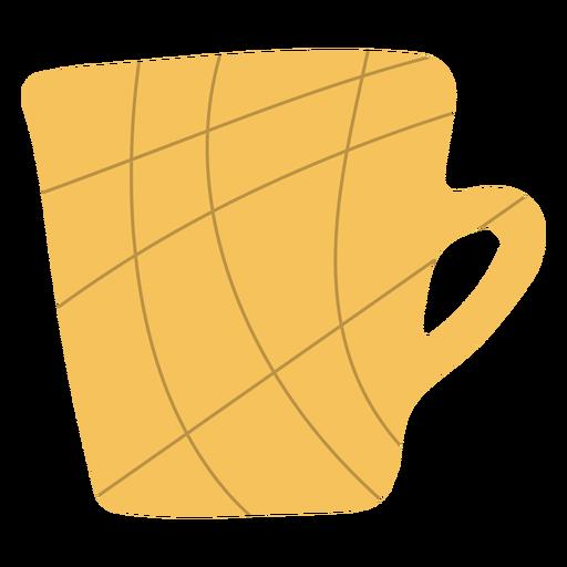 Yellow coffee mug hand drawn