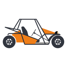 Orange rally buggy flat