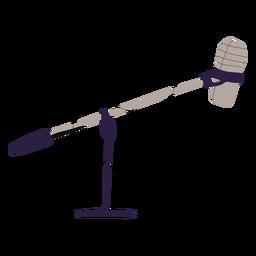 Ilustración de micrófono de estudio