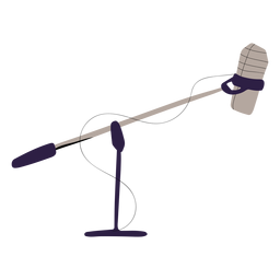 Studio mic illustration