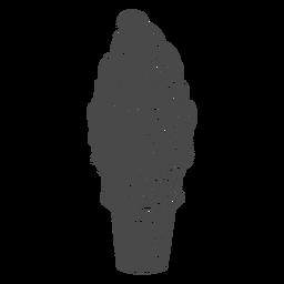 Cono de helado de remolino dibujado a mano