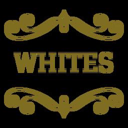 Etiqueta de remolinos blancos