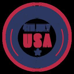 4 de julho EUA design de crachá