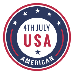 4th of july usa badge design