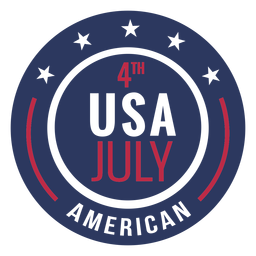 American badge 4th of july