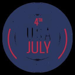 Crachá americano 4 de julho