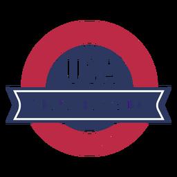Distintivo patriótico dos EUA do dia da independência
