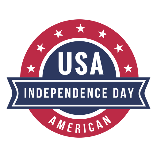 Independence day usa patriotic badge Transparent PNG