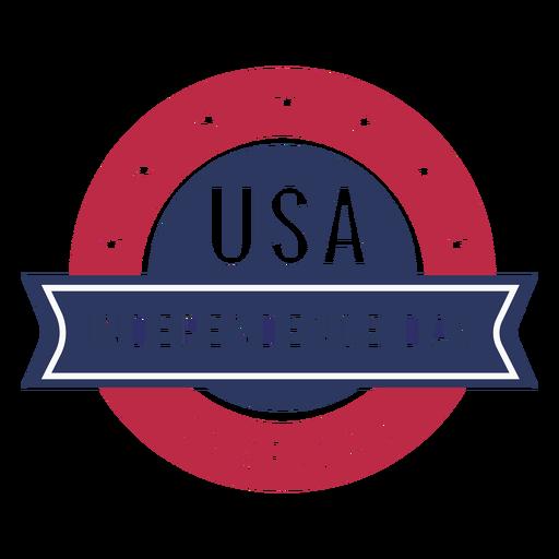 Insignia patriótica de estados unidos del día de la independencia