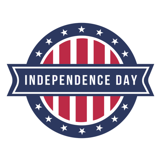Independence day coloured badge design Transparent PNG