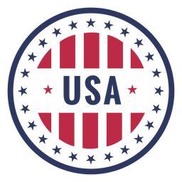 Usa patriotic badge