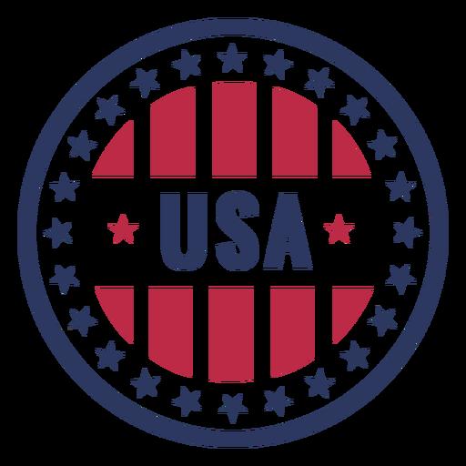 Usa patriotic badge Transparent PNG