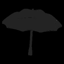 Paraguas abierto negro negro
