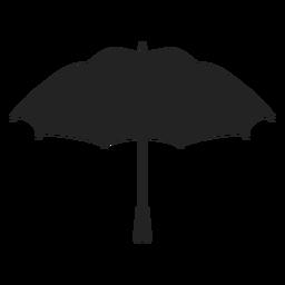 Silueta de paraguas abierto negro