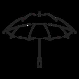 Trazo de paraguas negro abierto