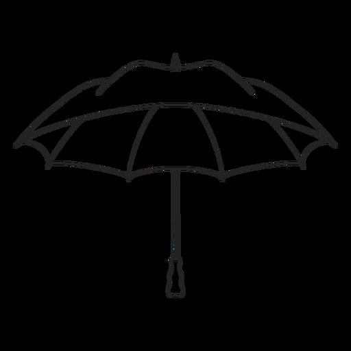 Black open umbrella stroke