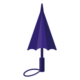 Blue closed umbrella illustration