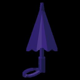 Ilustración de paraguas cerrado azul