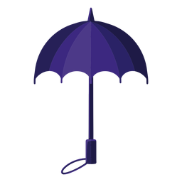 Blue umbrella illustration