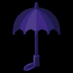Ilustración de paraguas azul
