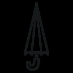 Closed simple umbrella stroke