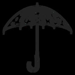 Large umbrella hand drawn
