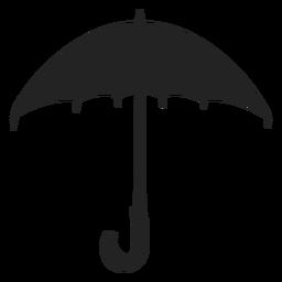 Large umbrella silhouette