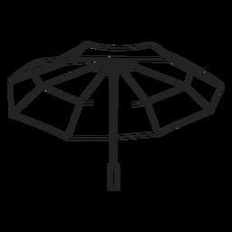 Open big umbrella stroke