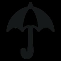 Paraguas abierto blanco y negro