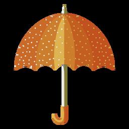 Orange umbrella dots illustration