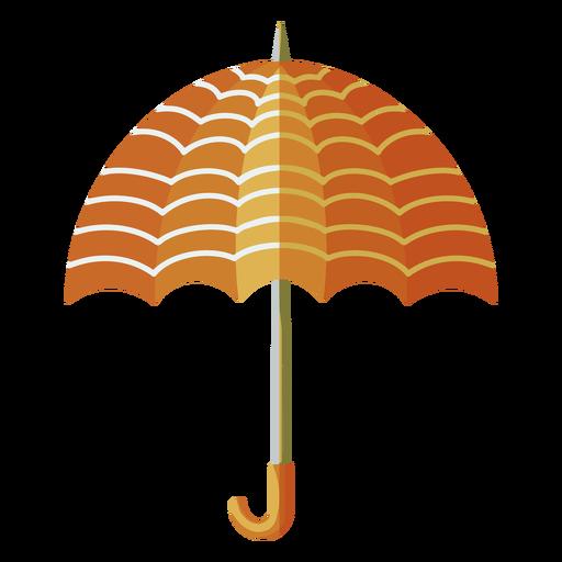 Orange umbrella lines illustration
