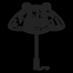 Dibujado a mano paraguas panda