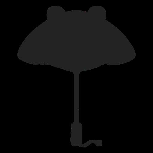 Panda paraguas silueta