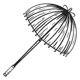 Parasol fringe hand drawn
