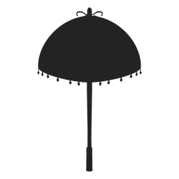Parasol fringe silhouette