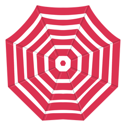 Red umbrella from above illustration