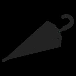 Simple closed umbrella black