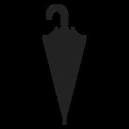 Simple closed umbrella silhouette