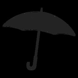 Simple open umbrella black