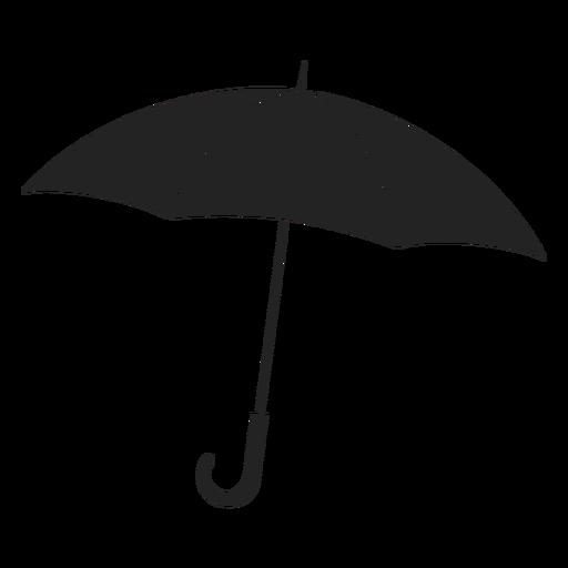Paraguas abierto simple negro
