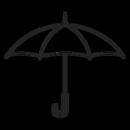 Simple open umbrella stroke