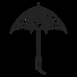 Small open umbrella hand drawn