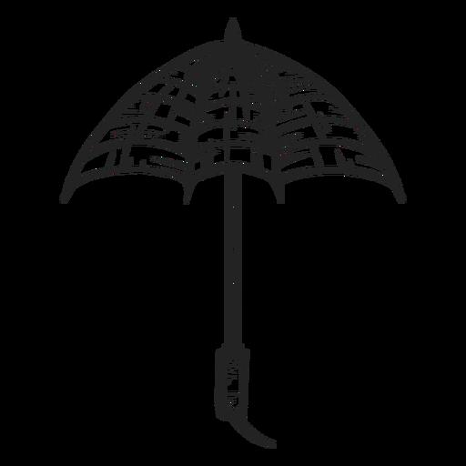 Dibujado a mano pequeño paraguas abierto