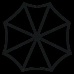 Paraguas sobre el trazo