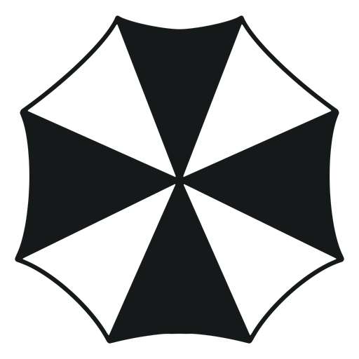 Paraguas desde arriba en blanco y negro