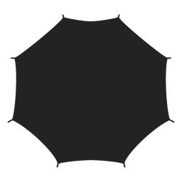Umbrella from above silhouette