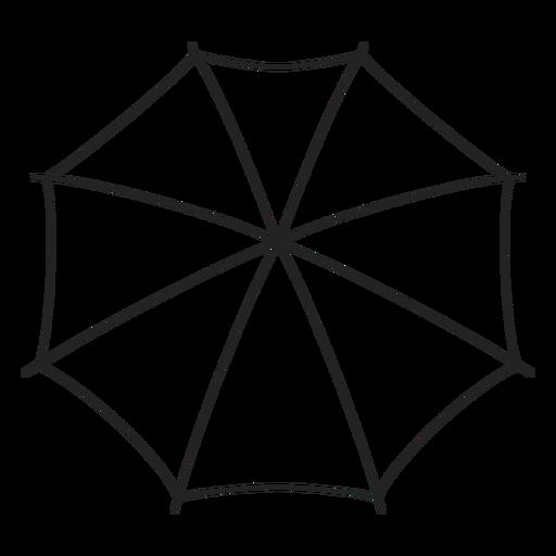 Paraguas desde arriba del trazo