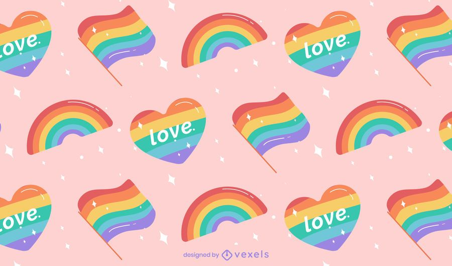 Pride rainbow pattern design