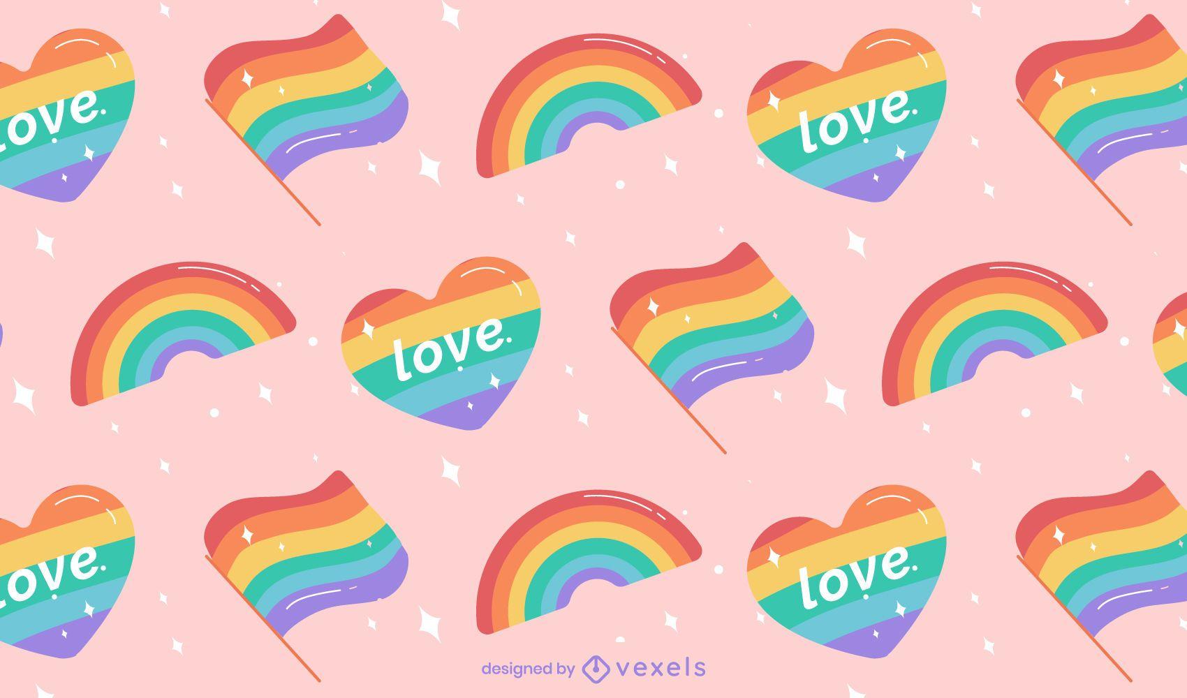 Diseño de patrón de arco iris de orgullo