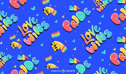 Pride love wins pattern design